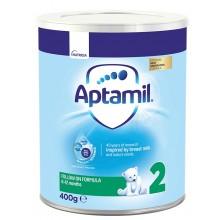 Аптамил 2 - APTAMIL 2 Бебешко мляко 6-12м. 400гр.