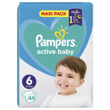 Pampers Active Baby Maxi pack 6 пелени 13-18кг 44бр.