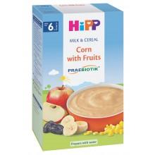 Хип каша - Hipp Био инстантна каша Царевица с плодове 250гр.